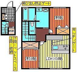 カーネカッツェ・サルースA[203号室]の間取り