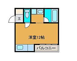 サイドセブン[2階]の間取り
