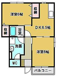 ミレニアJ・K II[2階]の間取り