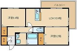 G Court Hirano(シャーメゾン)[105号室]の間取り