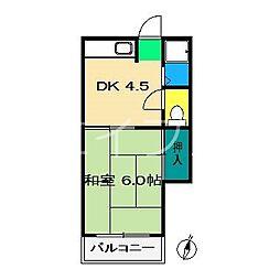 コーポ西村[2階]の間取り