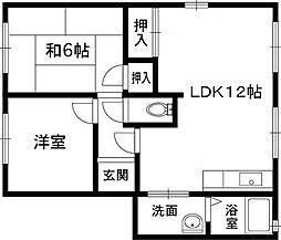 ハイツ菅原[1階]の間取り