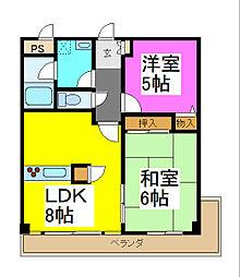 西川口パインマンションII[3階]の間取り
