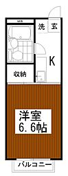 東京都多摩市乞田の賃貸アパートの間取り