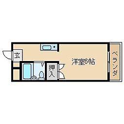 松が丘エンビィマンション[411号室]の間取り