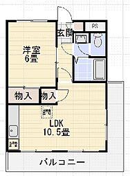 第二山内マンション[2階]の間取り