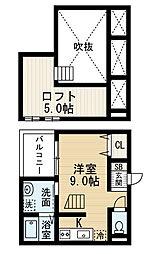愛知県名古屋市中川区高畑5丁目の賃貸アパートの間取り