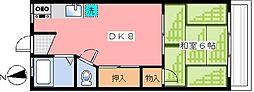 東京都中野区江古田1丁目の賃貸マンションの間取り