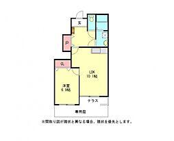 愛知県一宮市浅井町西海戸字東郷前の賃貸アパートの間取り