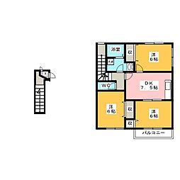 ミレニアムA[2階]の間取り