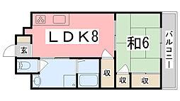 コーポラス神子岡[4階]の間取り
