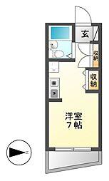 アトリウム前田[2階]の間取り