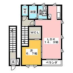 レジデンス夏見[2階]の間取り
