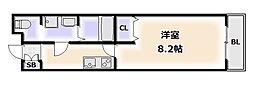 大阪府大阪市浪速区桜川3丁目の賃貸マンションの間取り