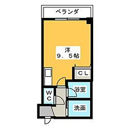 プリミエ−ル篠木[3階]の間取り