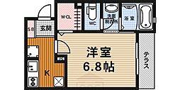 京都府京都市下京区中堂寺北町の賃貸アパートの間取り