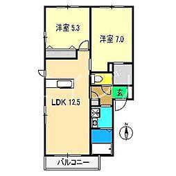 シャーメゾン・スュフィールB棟[1階]の間取り