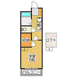 レオパレス西ノ京円町[201号室]の間取り