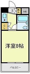 パレユニオン鶴ヶ丘[6階]の間取り