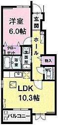 k's residence[102号室]の間取り
