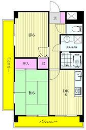 菊野台KYハイツ[401号室]の間取り