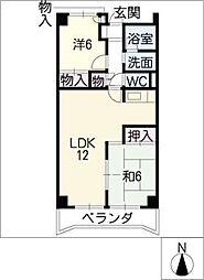 アビタシオン天子田[3階]の間取り