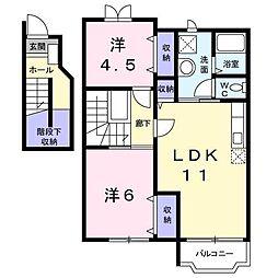 ローテローゼY[2階]の間取り