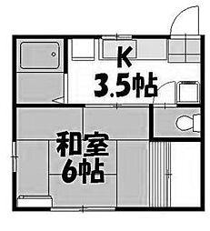 メゾントミイ[1階]の間取り
