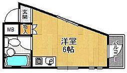 ビバハイツ武庫之荘[206号室]の間取り