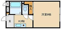 兵庫県加古郡播磨町北野添2丁目の賃貸マンションの間取り