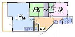 ファミリオ奥ノ坊[1階]の間取り