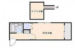 オレンジハウス坪井[2階]の間取り