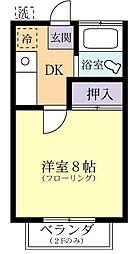 第一天久保寮[1階]の間取り