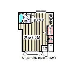 ローズアパートQ35[1階]の間取り