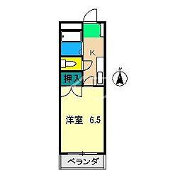 ピュア高須II[3階]の間取り