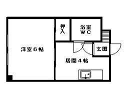 山崎ビル[2階]の間取り