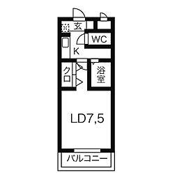 愛知県西尾市伊藤3丁目の賃貸マンションの間取り