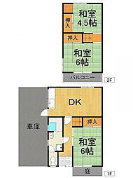 [一戸建] 兵庫県尼崎市武庫之荘8丁目 の賃貸【/】の間取り