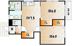 KMハイツVII C棟[1階]の間取り