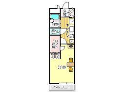 JR鹿児島本線 黒崎駅 徒歩17分の賃貸アパート 3階1Kの間取り