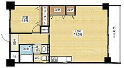 渡辺ハイツ[4階]の間取り