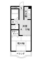 東京都練馬区練馬の賃貸マンションの間取り