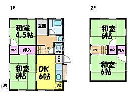 [一戸建] 愛媛県松山市西石井4丁目 の賃貸【/】の間取り