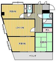 愛知県名古屋市千種区月見坂町1丁目の賃貸マンションの間取り
