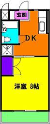 静岡県磐田市立野の賃貸マンションの間取り