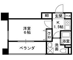 プレサンス天満ステーションフロント[5階]の間取り