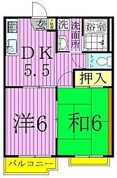 東京都足立区中央本町5丁目の賃貸マンションの間取り