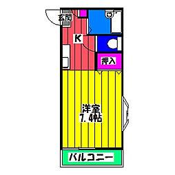 リバーハウスジョイ[2階]の間取り