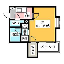 コスモナーレ一社[2階]の間取り