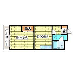 真栄ビル[3階]の間取り